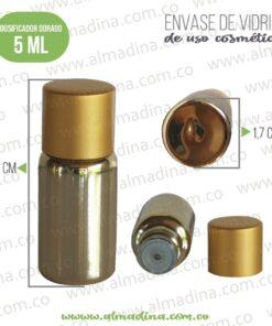 Dosificador Vidrio Color Dorado Tipo Espejo