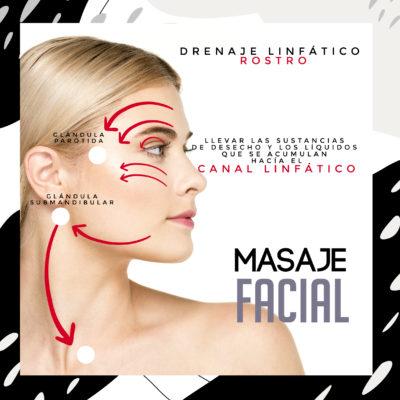 Masaje Facial, drenaje linfático