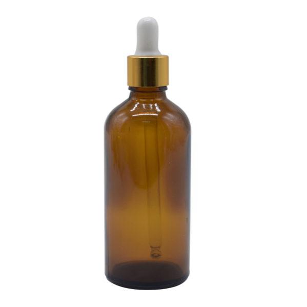 Envase Vidrio Gotero 100 ml Ámbar (15 Unidades)