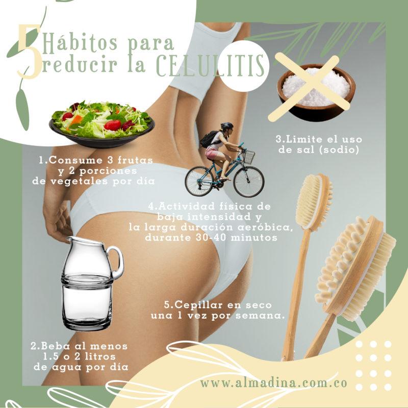 Habitos para Reducir la Celulitis