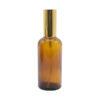 Envase Vidrio Spray 100 ml, ámbar, Válvula Encasquetada Color Dorada