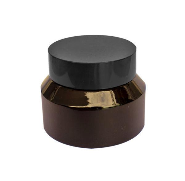 Envase Vidrio Crema 50 Gramos Ámbar (12 unidades)