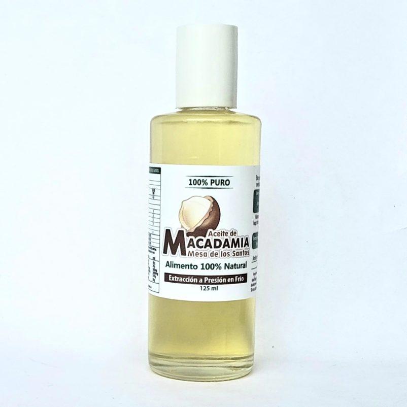 Aceite De Nuez De Macadamia Prensado En Frio 125 ml