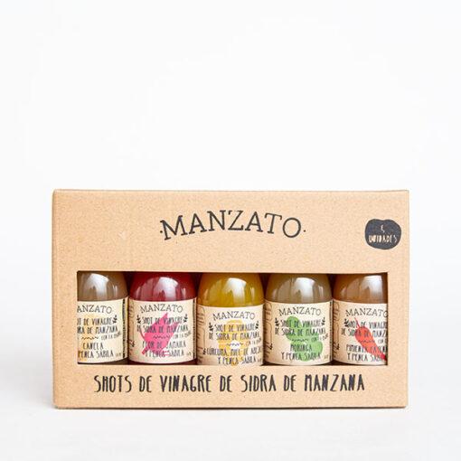 Vinagre de Sidra de Manzana con la Madre kit x 5 ud con Penca Sábila y Super Alimentos