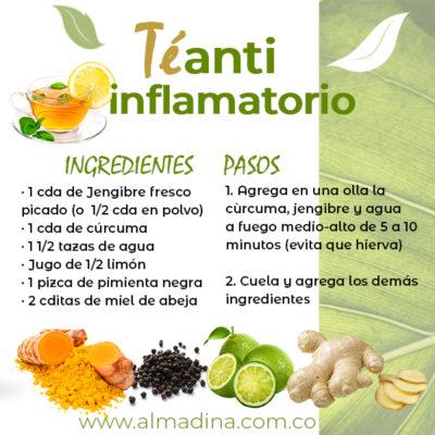 te anti inflamatorio de cúrcuma y miel