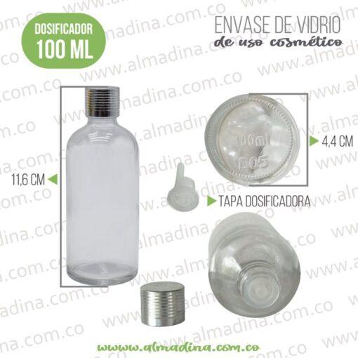 Envase Vidrio Dispensador 100ml