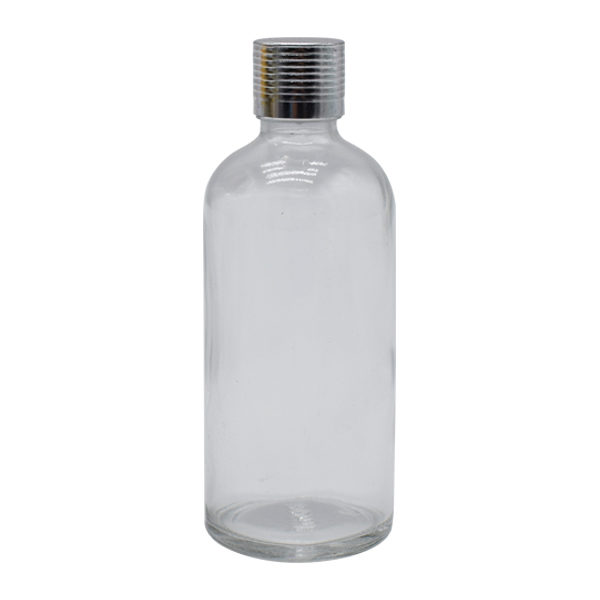 FRASCO PURE 100ML TAPA PLATA