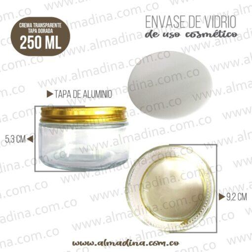 ENVASE CREMA 250GR TAPA DORADA
