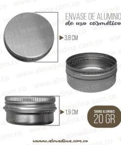 Envase Aluminio 20 gramos