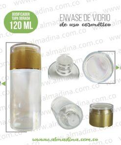 dosificador 120ml tapa dorado