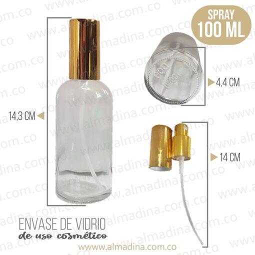 Envase Spray de 100ml transparente