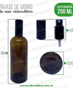 Envase dispensador ambar 200ml