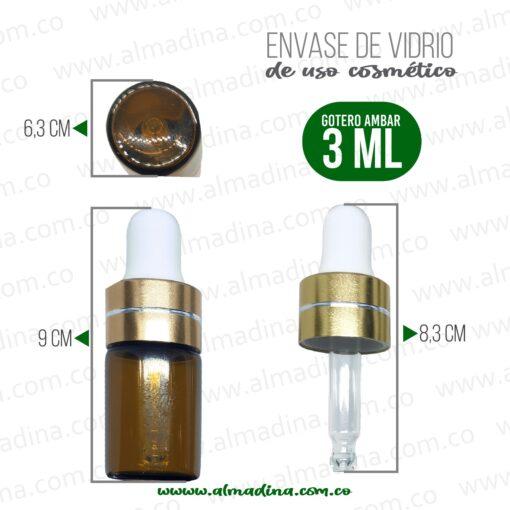 Gotero 3ml ámbar Micro Dosis