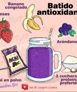 batido antioxidante con acai